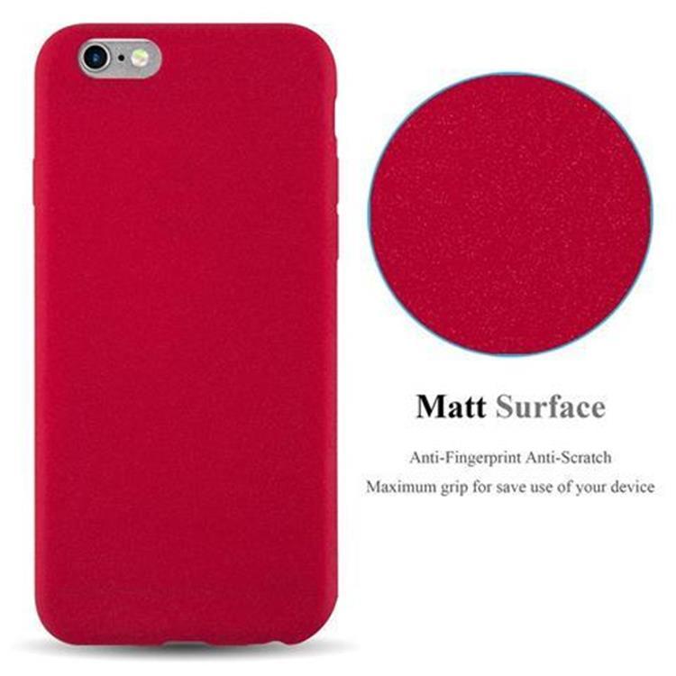 Custodia-Cover-Silicone-per-Apple-iPhone-6-iPhone-6S-TPU-Case-Bumper-Guscio miniatura 13