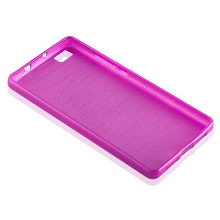 Custodia-Cover-Silicone-per-Huawei-P8-LITE-2015-TPU-Case-Effetto-Acciaio miniatura 25