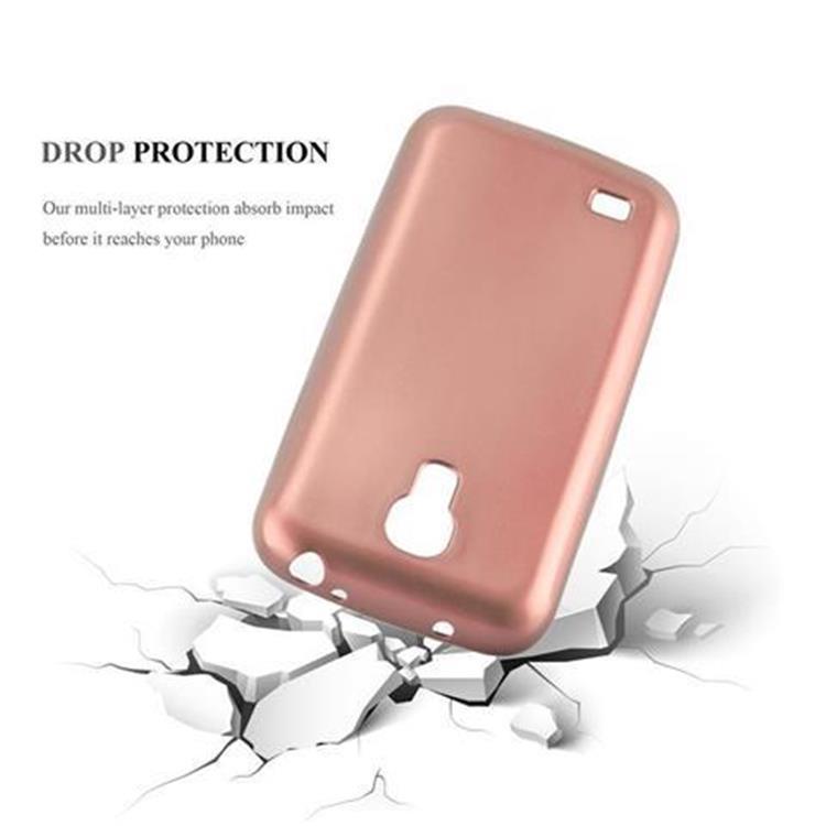 Custodia-Cover-Silicone-per-Samsung-Galaxy-S4-TPU-Case-Metallico-Opaco miniatura 25