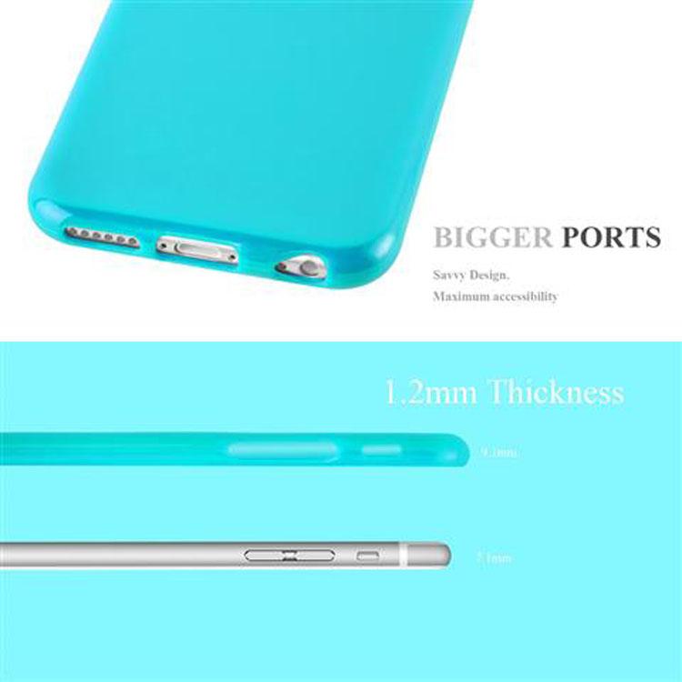 Custodia-Cover-Silicone-per-Apple-iPhone-6-6S-Morbida-TPU-Case miniatura 27