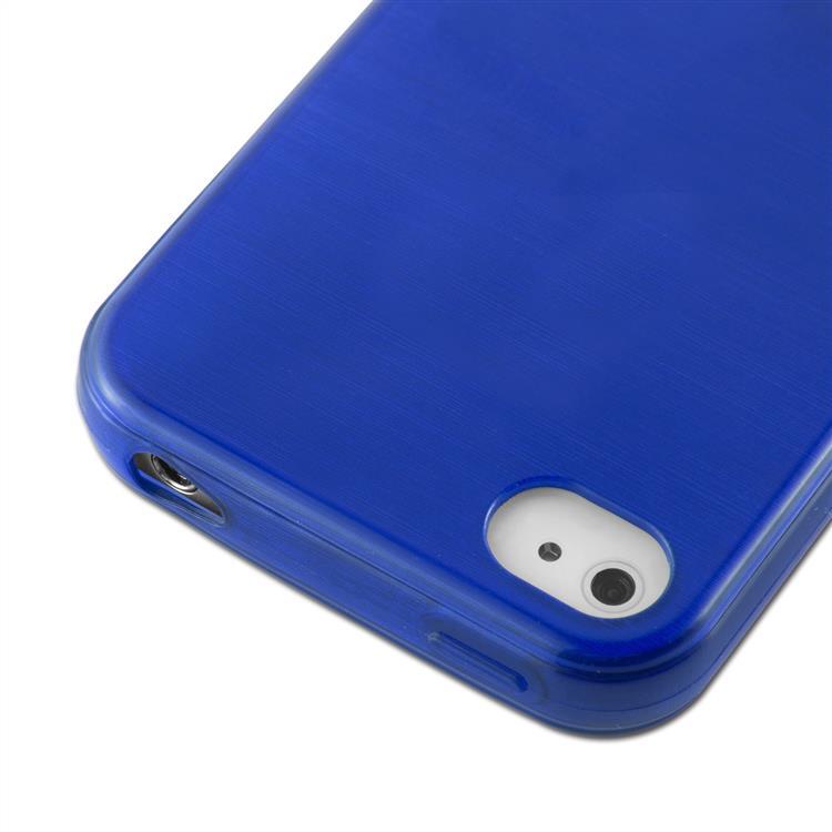 Custodia-Cover-Silicone-per-Apple-iPhone-4-4S-TPU-Case-Effetto-Acciaio miniatura 28