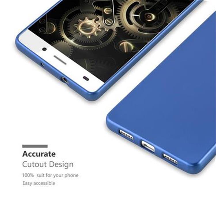 Custodia-Cover-Silicone-per-Huawei-P8-LITE-2015-TPU-Case-Metallico-Opaco miniatura 30
