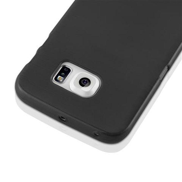Custodia-Cover-Silicone-per-Samsung-Galaxy-S6-EDGE-TPU-Case-Effetto-Acciaio miniatura 6
