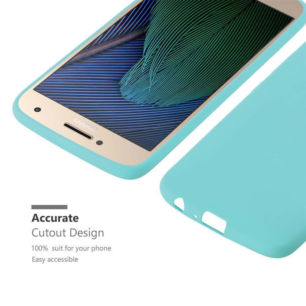 Custodia-Cover-Silicone-per-Motorola-MOTO-G5-PLUS-TPU-Case-Protettiva miniatura 45