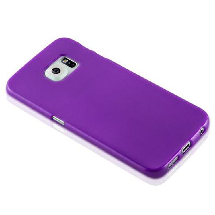 Custodia-Cover-Silicone-per-Samsung-Galaxy-S6-EDGE-TPU-Case-Effetto-Acciaio miniatura 37