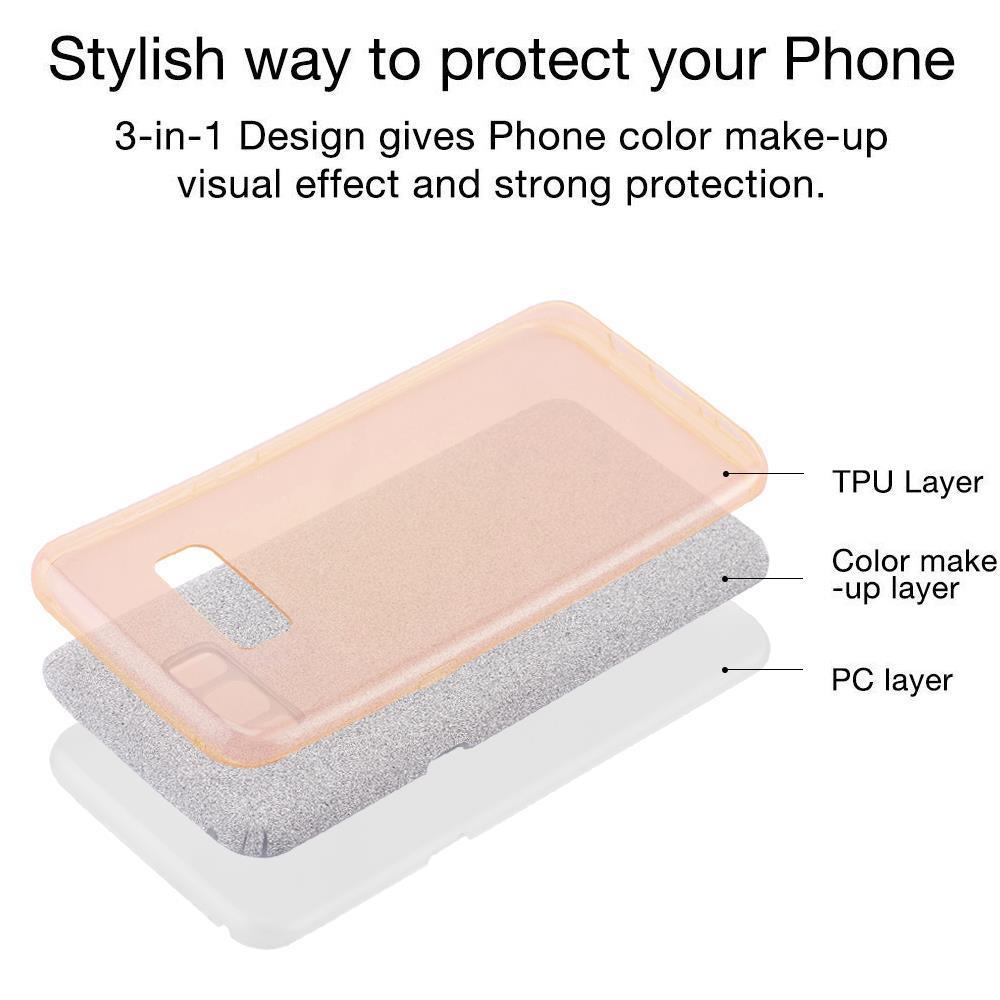 Custodia-Cover-Silicone-per-Samsung-Galaxy-S8-TPU-Case-Glitter miniatura 16
