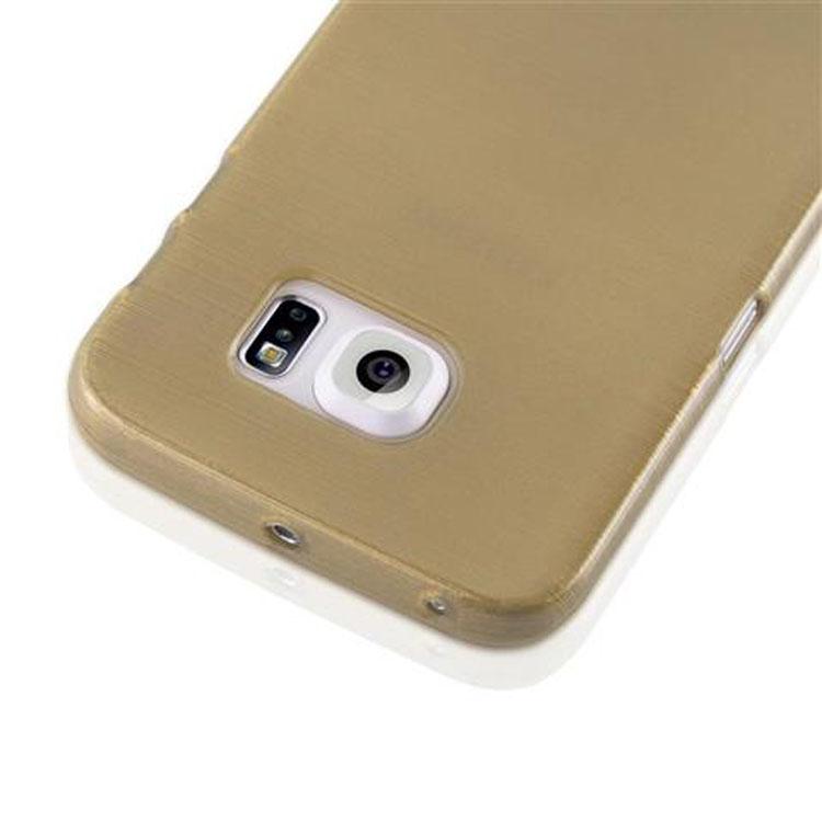 Custodia-Cover-Silicone-per-Samsung-Galaxy-S6-EDGE-TPU-Case-Effetto-Acciaio miniatura 30