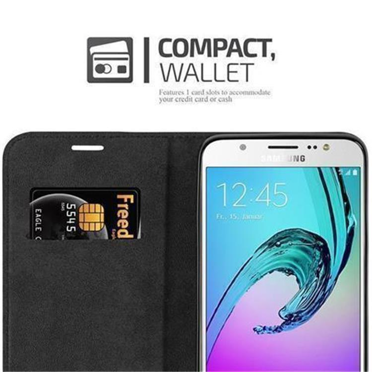 Custodia-per-Samsung-Galaxy-J7-2016-Portafoglio-Cover-Case-Magnetica-Libro miniatura 10