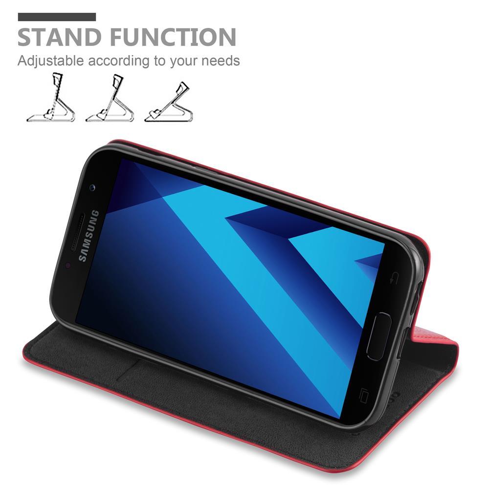 Custodia-per-Samsung-Galaxy-A7-2017-Portafoglio-Cover-Case-Magnetica-Libro miniatura 8