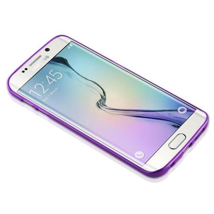 Custodia-Cover-Silicone-per-Samsung-Galaxy-S6-EDGE-TPU-Case-Effetto-Acciaio miniatura 36
