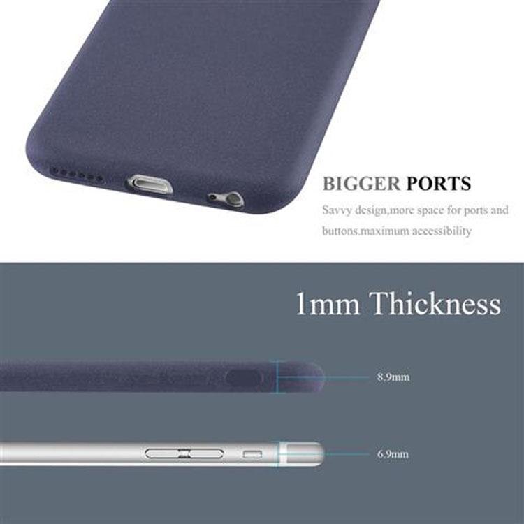 Custodia-Cover-Silicone-per-Apple-iPhone-6-iPhone-6S-TPU-Case-Bumper-Guscio miniatura 19