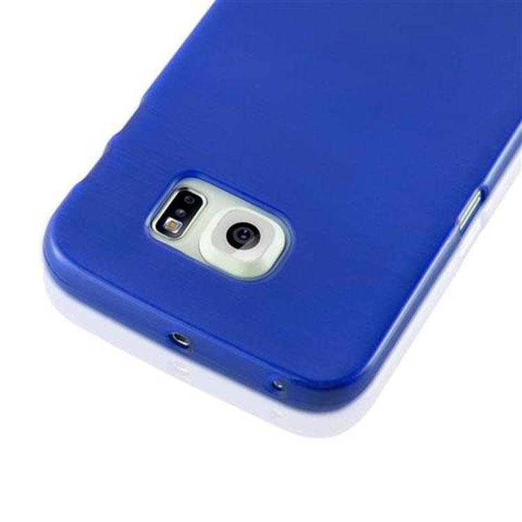Custodia-Cover-Silicone-per-Samsung-Galaxy-S6-EDGE-TPU-Case-Effetto-Acciaio miniatura 26