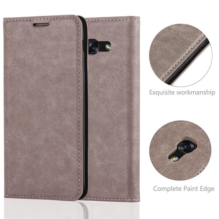 Custodia-per-Samsung-Galaxy-A7-2017-Portafoglio-Cover-Case-Magnetica-Libro miniatura 16