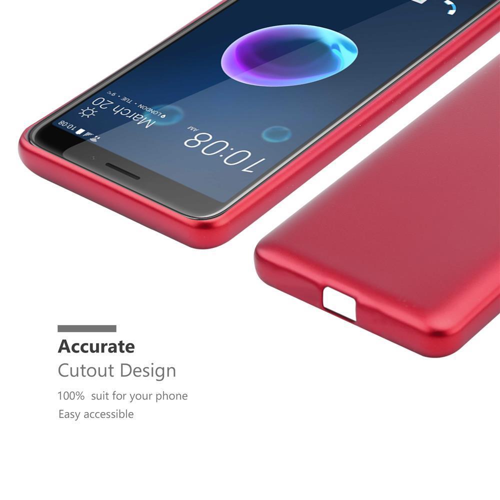Custodia-Cover-Silicone-per-HTC-Desire-12-TPU-Case-Metallico-Opaco miniatura 12