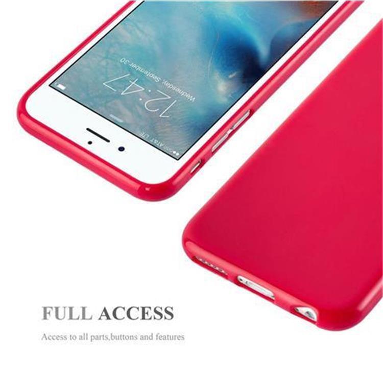 Custodia-Cover-Silicone-per-Apple-iPhone-6-6S-Morbida-TPU-Case miniatura 13