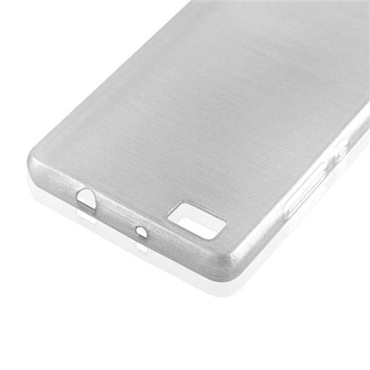 Custodia-Cover-Silicone-per-Huawei-P8-LITE-2015-TPU-Case-Effetto-Acciaio miniatura 12