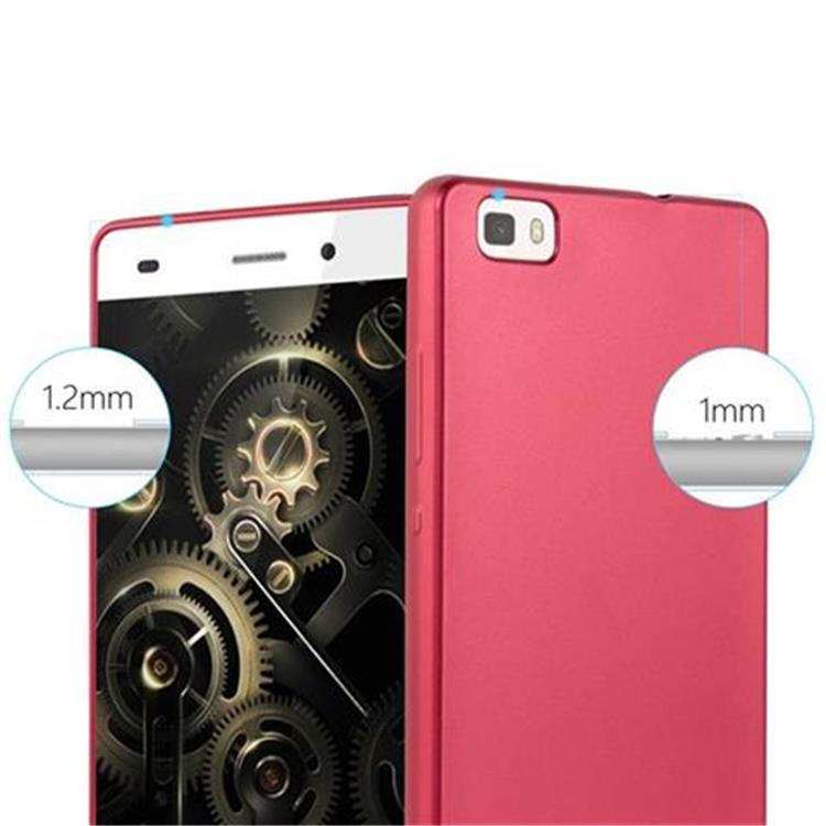 Custodia-Cover-Silicone-per-Huawei-P8-LITE-2015-TPU-Case-Metallico-Opaco miniatura 16