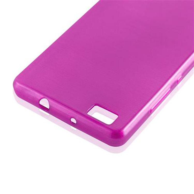 Custodia-Cover-Silicone-per-Huawei-P8-LITE-2015-TPU-Case-Effetto-Acciaio miniatura 24