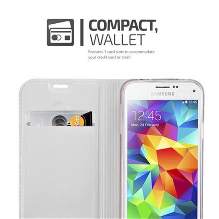 Custodia-Cover-per-Samsung-Galaxy-S5-MINI-DUOS-Metallico-Case-Libro-Portafoglio miniatura 23