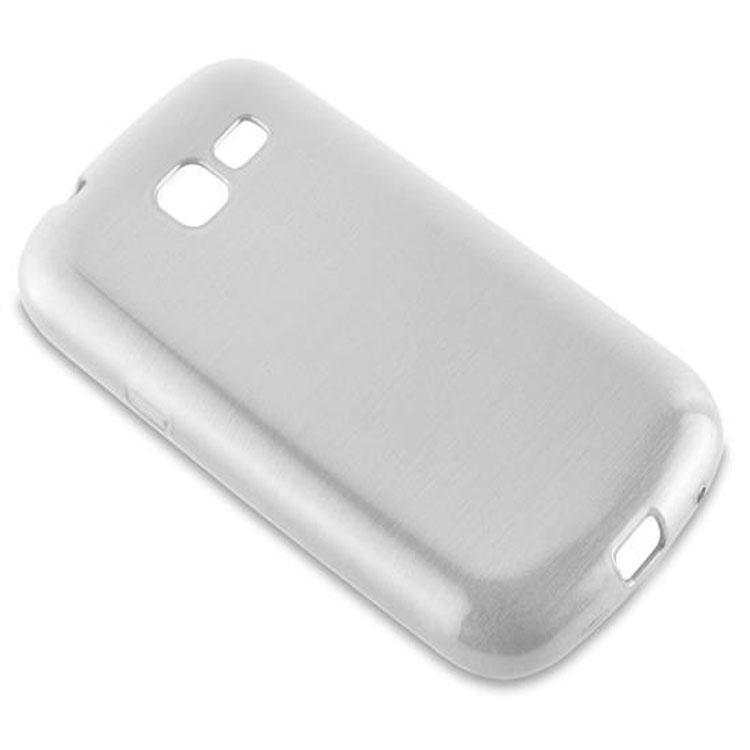 Custodia-Cover-Silicone-per-Samsung-Galaxy-TREND-LITE-TPU-Case-Effetto-Acciaio miniatura 10
