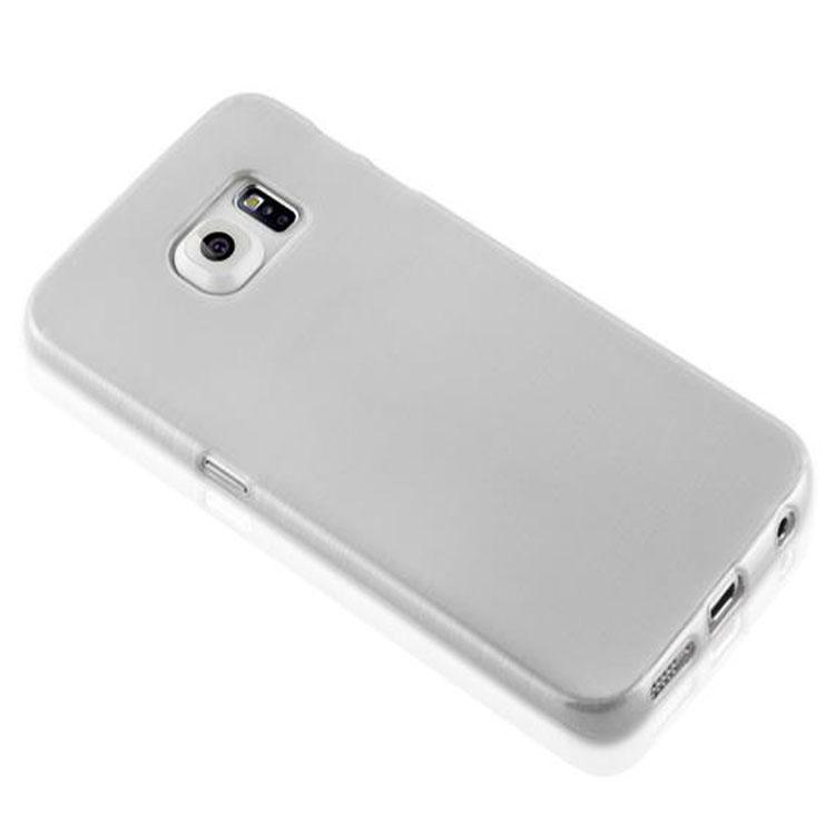 Custodia-Cover-Silicone-per-Samsung-Galaxy-S6-EDGE-TPU-Case-Effetto-Acciaio miniatura 12
