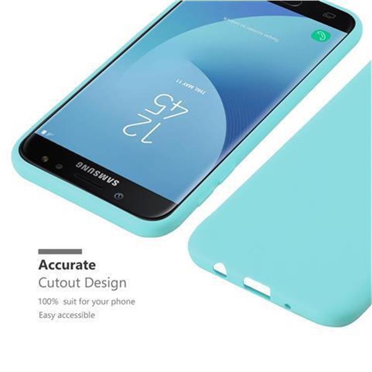 Custodia-Cover-Silicone-per-Samsung-Galaxy-J7-2017-TPU-Case-Protettiva miniatura 45