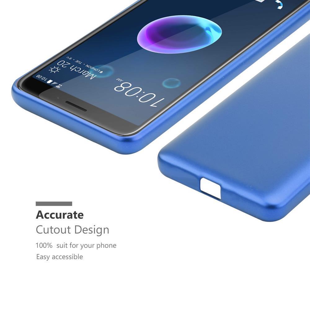 Custodia-Cover-Silicone-per-HTC-Desire-12-TPU-Case-Metallico-Opaco miniatura 22