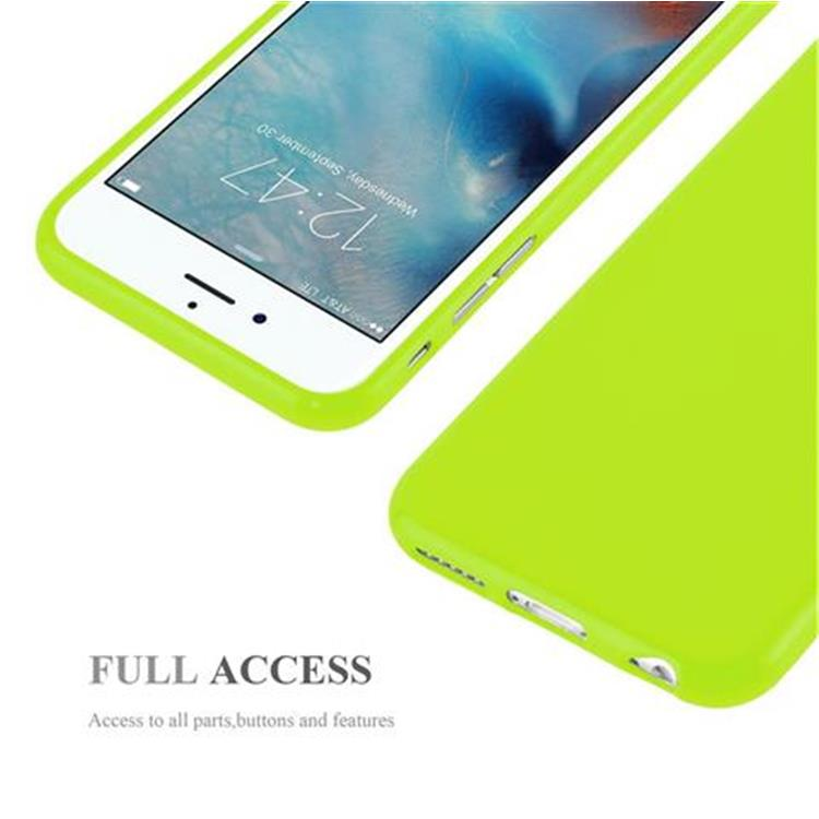 Custodia-Cover-Silicone-per-Apple-iPhone-6-6S-Morbida-TPU-Case miniatura 18