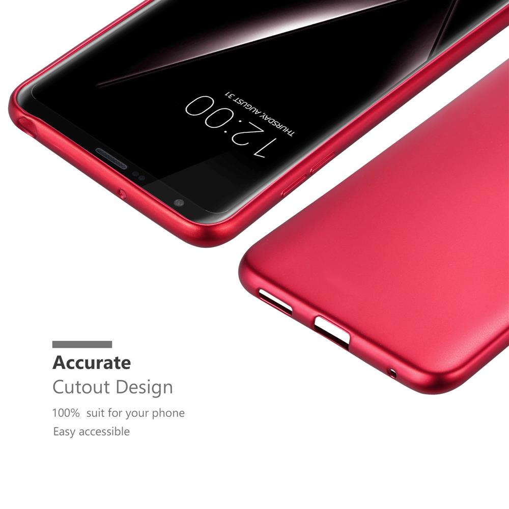 Custodia-Cover-Silicone-per-LG-V30-TPU-Case-Metallico-Opaco miniatura 14