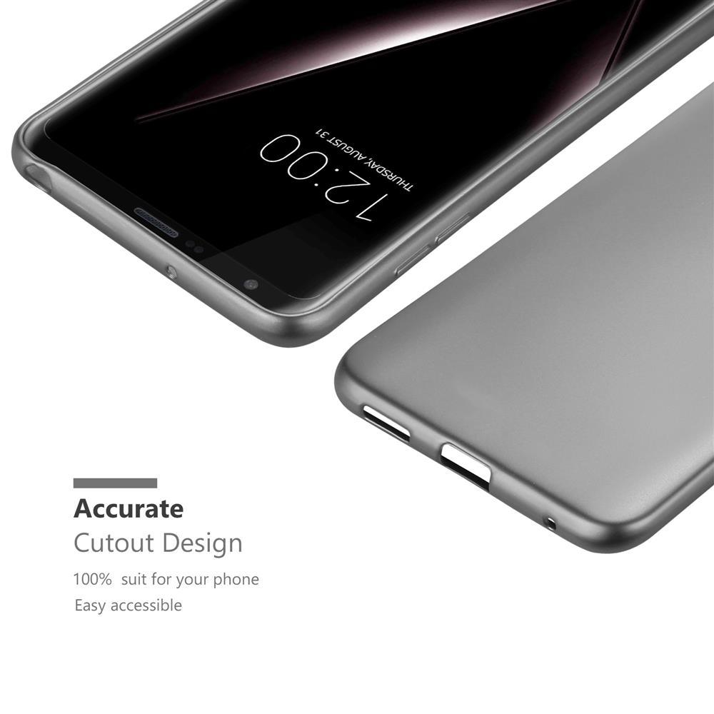 Custodia-Cover-Silicone-per-LG-V30-TPU-Case-Metallico-Opaco miniatura 19