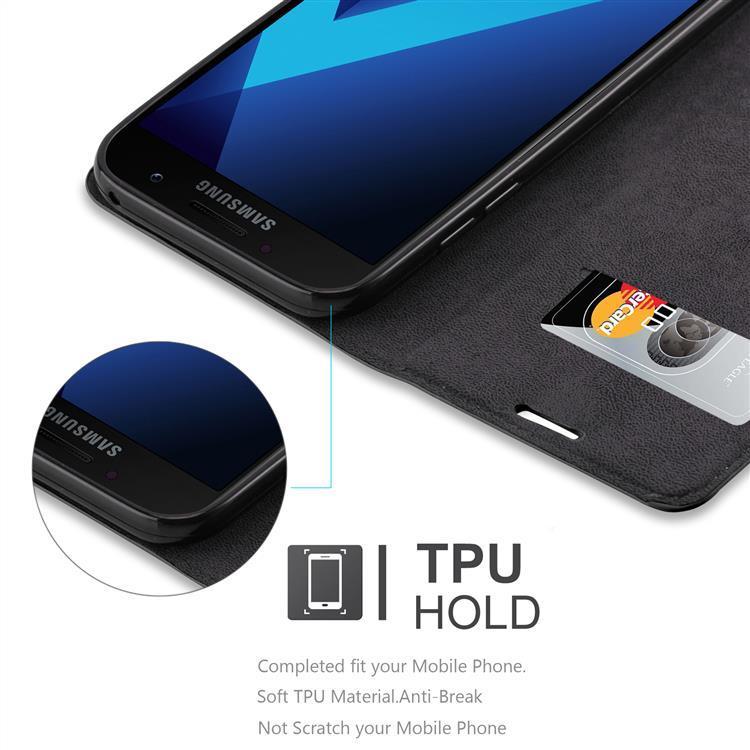 Custodia-per-Samsung-Galaxy-A7-2017-Portafoglio-Cover-Case-Magnetica-Libro miniatura 19