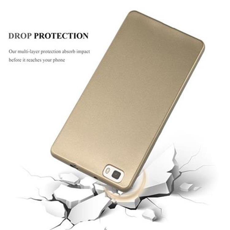 Custodia-Cover-Silicone-per-Huawei-P8-LITE-2015-TPU-Case-Metallico-Opaco miniatura 20