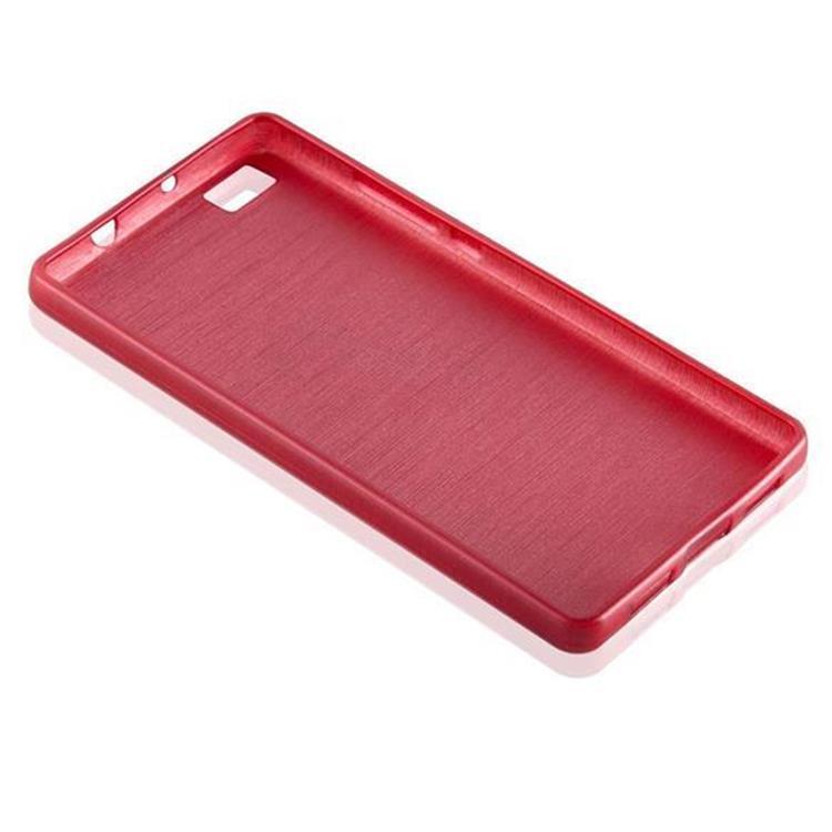Custodia-Cover-Silicone-per-Huawei-P8-LITE-2015-TPU-Case-Effetto-Acciaio miniatura 31
