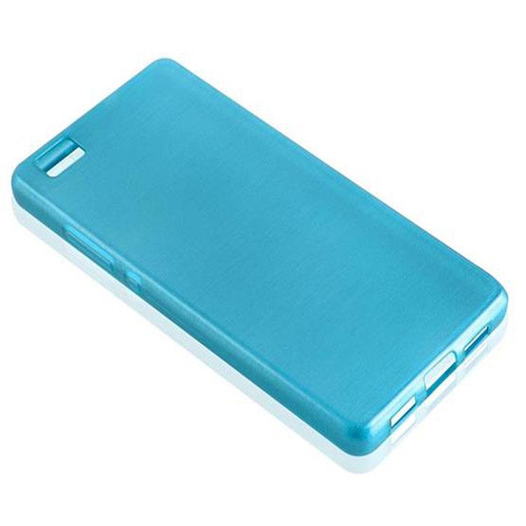 Custodia-Cover-Silicone-per-Huawei-P8-LITE-2015-TPU-Case-Effetto-Acciaio miniatura 20