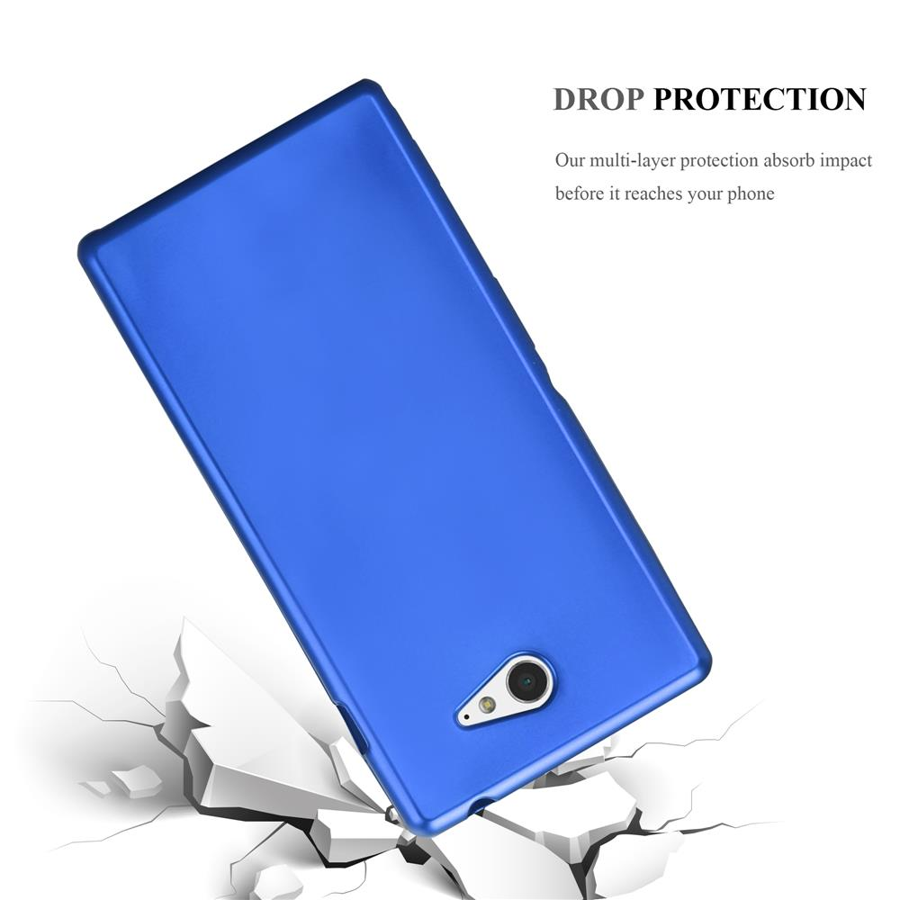 Custodia-Cover-Silicone-per-Sony-Xperia-M2-M2-Aqua-TPU-Case-Metallico-Opaco miniatura 22