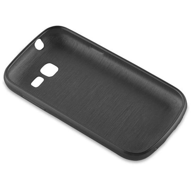 Custodia-Cover-Silicone-per-Samsung-Galaxy-TREND-LITE-TPU-Case-Effetto-Acciaio miniatura 7