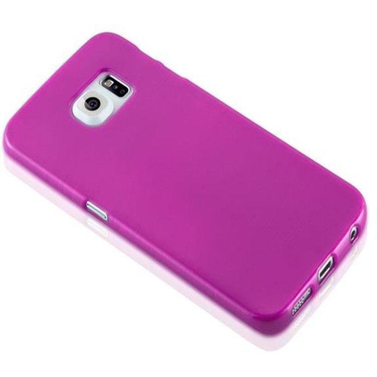 Custodia-Cover-Silicone-per-Samsung-Galaxy-S6-EDGE-TPU-Case-Effetto-Acciaio miniatura 20