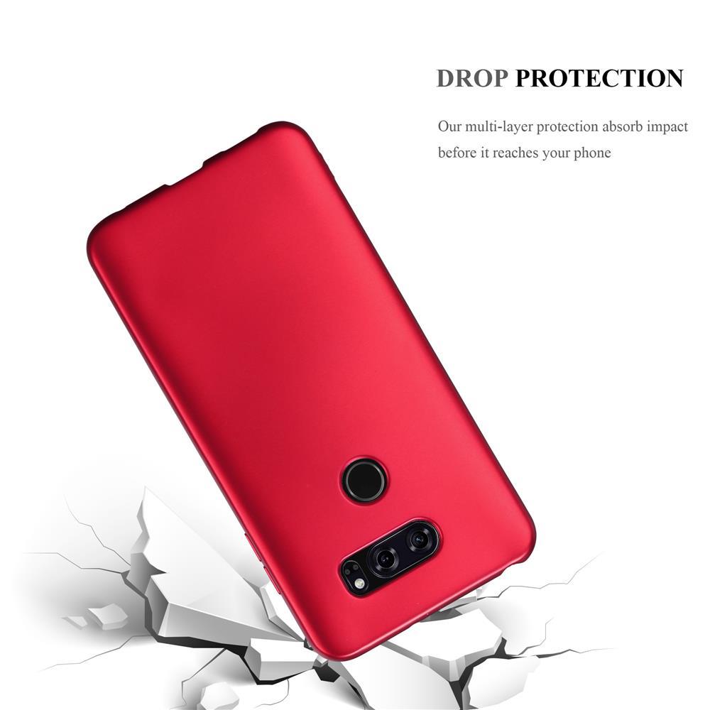 Custodia-Cover-Silicone-per-LG-V30-TPU-Case-Metallico-Opaco miniatura 12