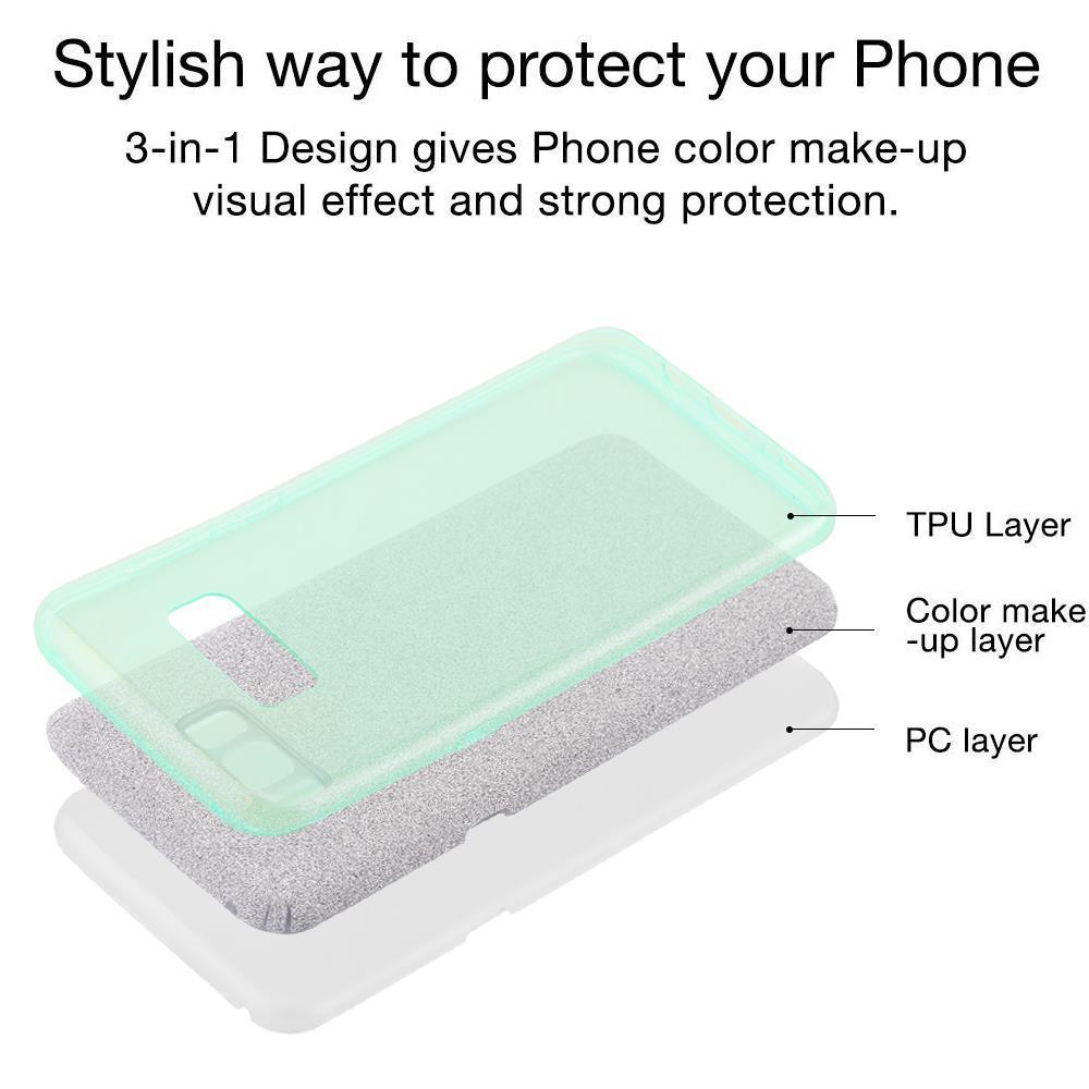 Custodia-Cover-Silicone-per-Samsung-Galaxy-S8-TPU-Case-Glitter miniatura 22