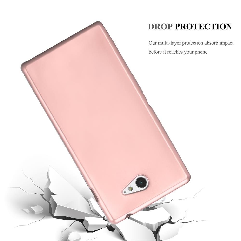 Custodia-Cover-Silicone-per-Sony-Xperia-M2-M2-Aqua-TPU-Case-Metallico-Opaco miniatura 27