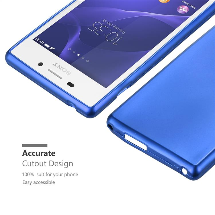 Custodia-Cover-Silicone-per-Sony-Xperia-M2-M2-Aqua-TPU-Case-Metallico-Opaco miniatura 24