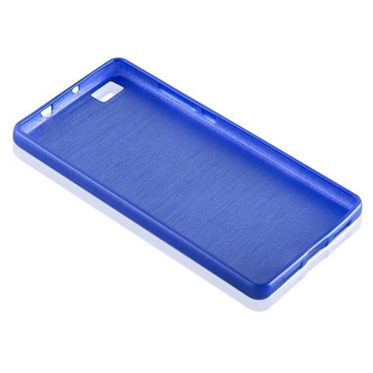 Custodia-Cover-Silicone-per-Huawei-P8-LITE-2015-TPU-Case-Effetto-Acciaio miniatura 37