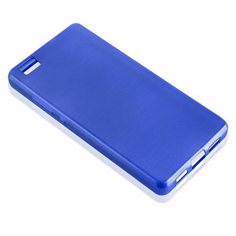 Custodia-Cover-Silicone-per-Huawei-P8-LITE-2015-TPU-Case-Effetto-Acciaio miniatura 36