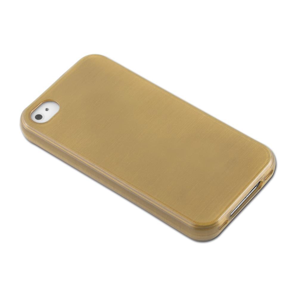Custodia-Cover-Silicone-per-Apple-iPhone-4-4S-TPU-Case-Effetto-Acciaio miniatura 31