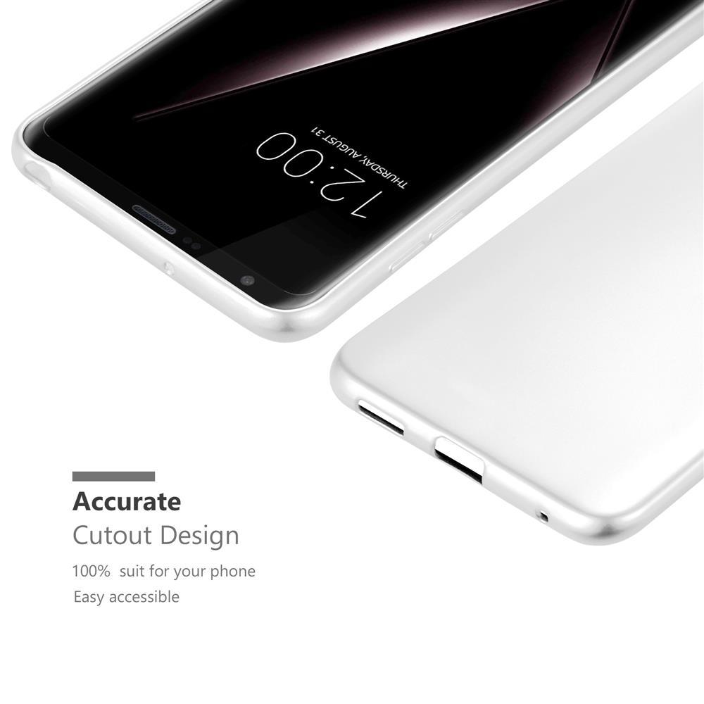 Custodia-Cover-Silicone-per-LG-V30-TPU-Case-Metallico-Opaco miniatura 34