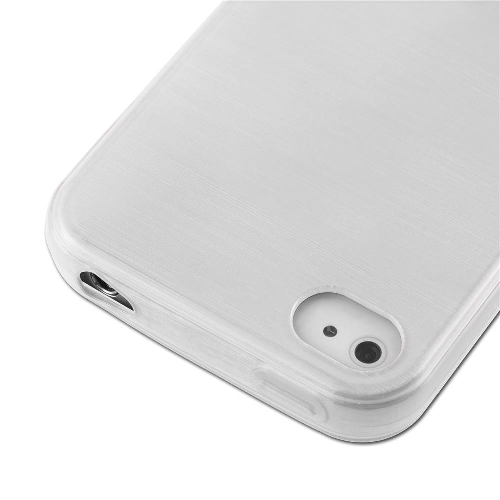 Custodia-Cover-Silicone-per-Apple-iPhone-4-4S-TPU-Case-Effetto-Acciaio miniatura 12