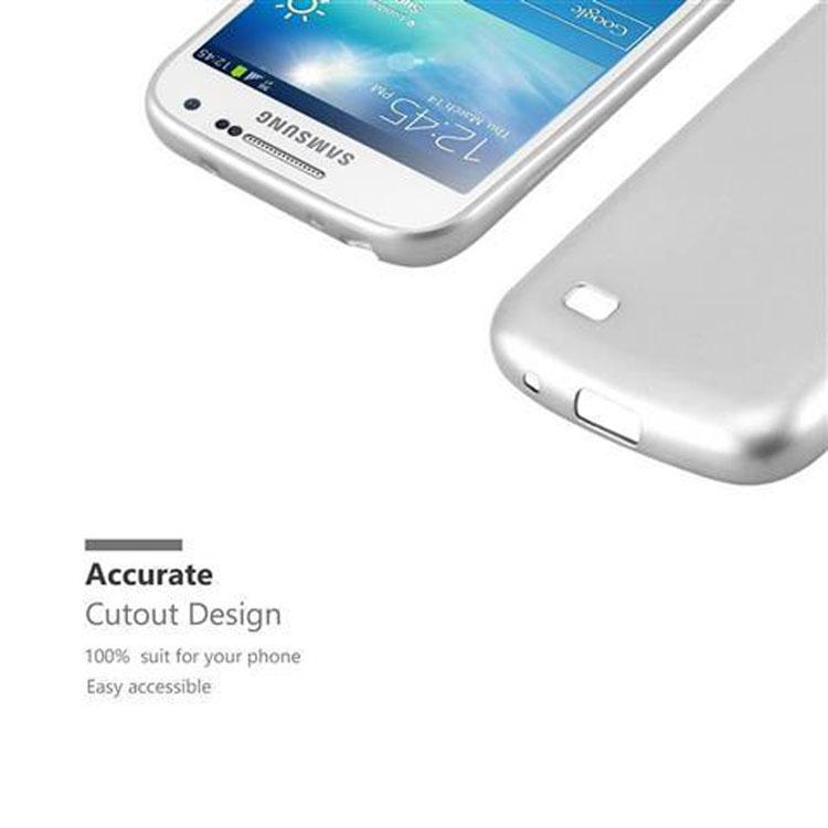 Custodia-Cover-Silicone-per-Samsung-Galaxy-S4-TPU-Case-Metallico-Opaco miniatura 30