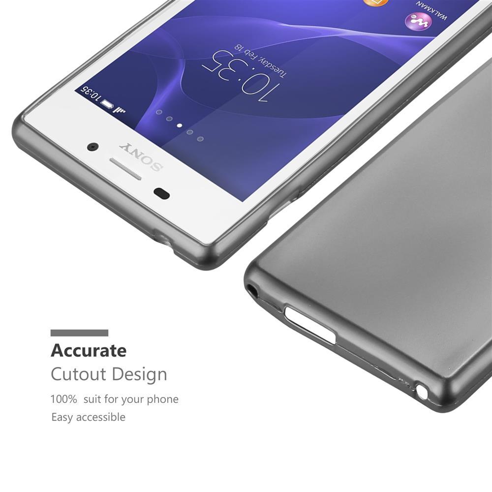 Custodia-Cover-Silicone-per-Sony-Xperia-M2-M2-Aqua-TPU-Case-Metallico-Opaco miniatura 19