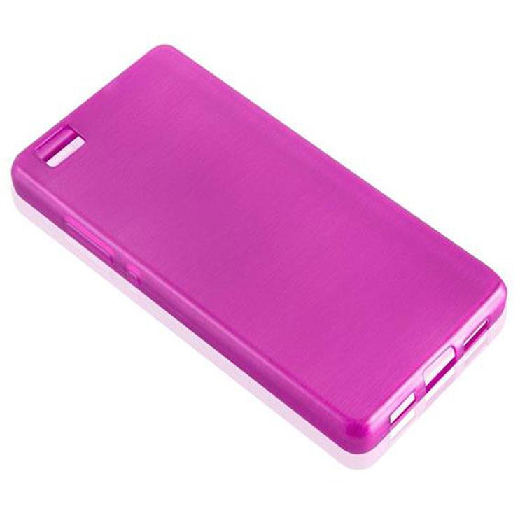 Custodia-Cover-Silicone-per-Huawei-P8-LITE-2015-TPU-Case-Effetto-Acciaio miniatura 26