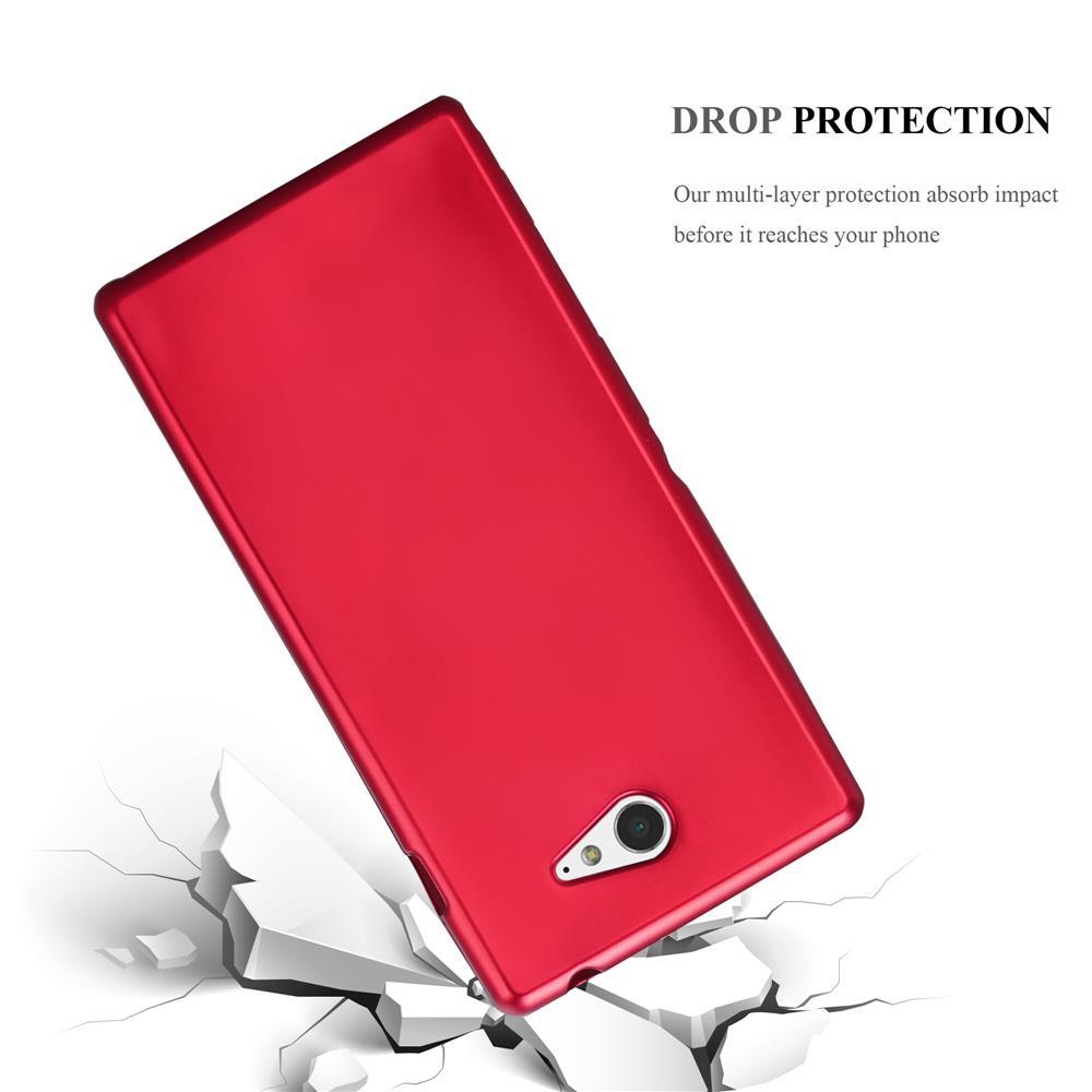 Custodia-Cover-Silicone-per-Sony-Xperia-M2-M2-Aqua-TPU-Case-Metallico-Opaco miniatura 12